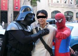 ダースベイダーとスパイダーマン
