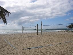 海岸!ビーチバレーもできます。