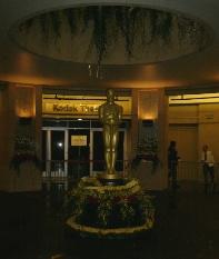 シアター内のオスカー像