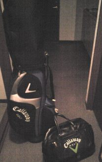 ゴルフ準備。