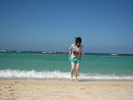 トロピカルビーチから逃げる私