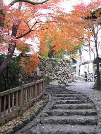 犬山城への道