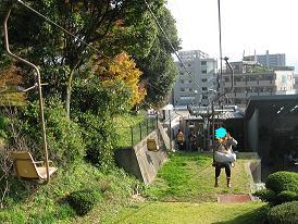 松山城までのロープウェイ