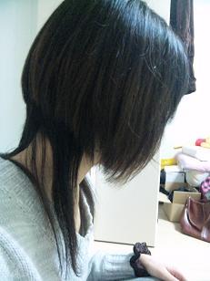 黒猫さんっぽい髪型
