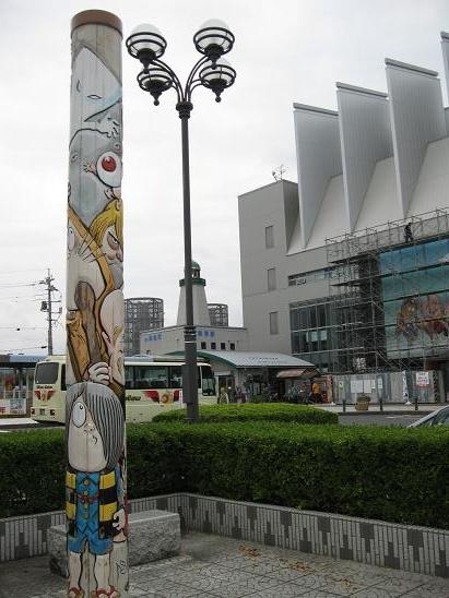 鳥取旅行:水木しげるロード 妖怪トーテムポール