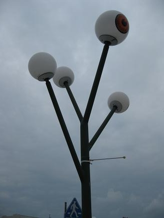 鳥取旅行:水木しげるロード 街灯