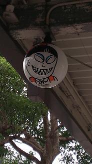 鳥取旅行:水木しげるロード 電灯1