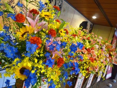 催事場に届いたお花
