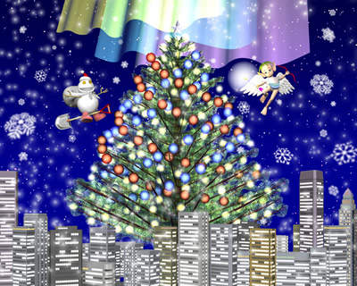 3DCG壁紙 2012クリスマス用壁紙2