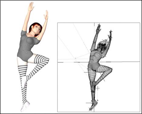 3Dキャラのバレエ4