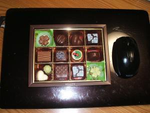チョコが送られて来ました