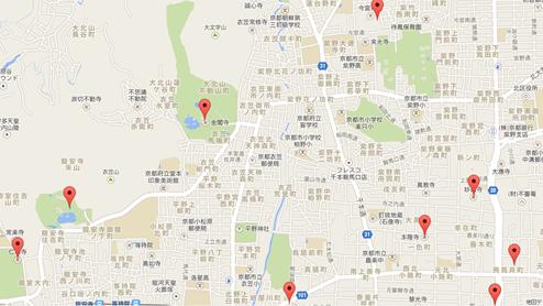 金閣寺003地図