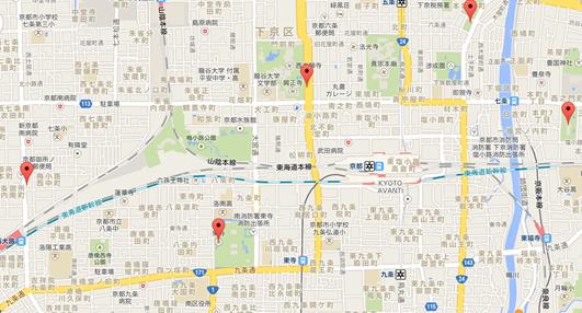 西本願寺003地図