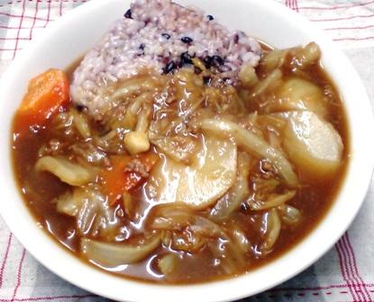 白菜と大根のカレー