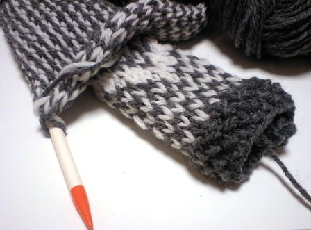 長い編みもの。