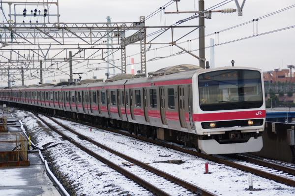 2010年2月2日 雪、曇り、京葉線にて、 ケヨ33 火災臨海公園