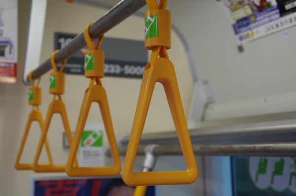2010年7月31日 京葉線 白い砂 TDR臨 つり革