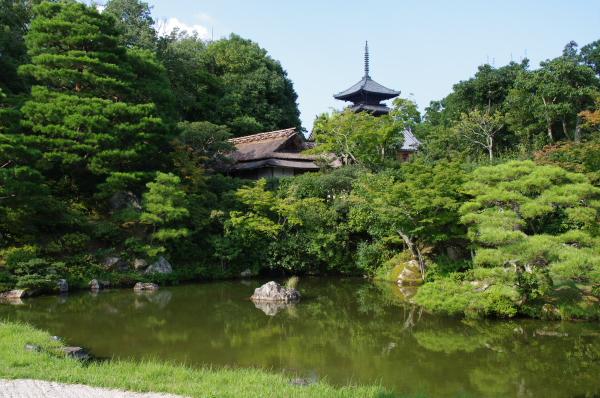 2010年8月19日 18きっぷ 京都旅行 仁和寺 池