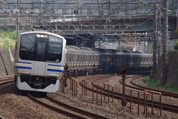 2010年9月20日 総武線 クラY101 稲毛カーブ