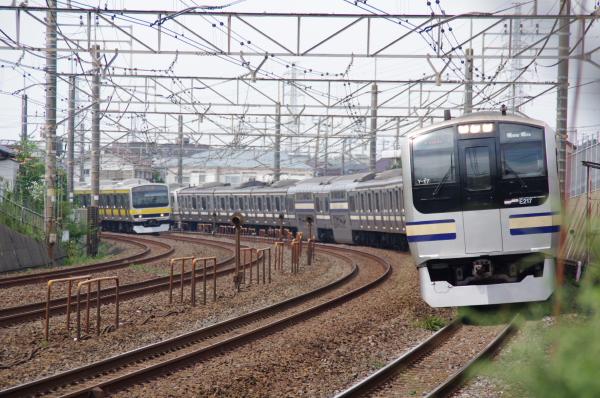 2010年9月20日 総武線 共演 稲毛カーブ