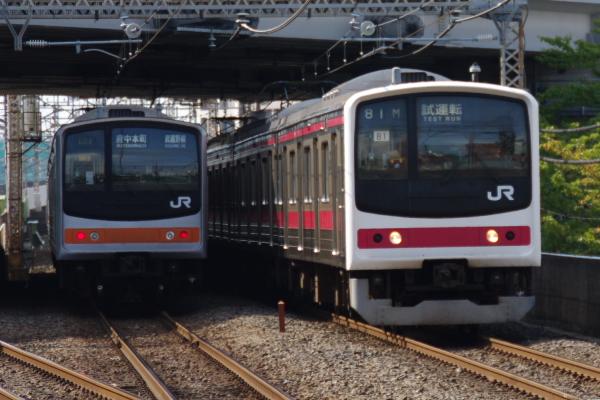 2010年10月1日 ケヨ31配給 武蔵野線 総武線  並び むさい浦和