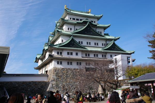 2010年1月3,4、5日 名古屋観光 名古屋城