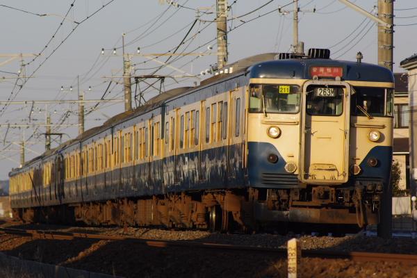 2011年1月9日 外房線 マリ211+マリ103 大網‐永田 263M