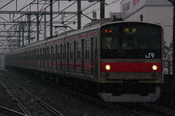 2011年2月11日 雪 京葉線 ケヨ24 新習志野4