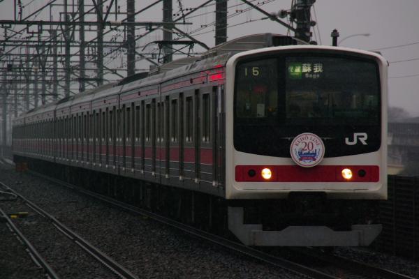 2011年2月11日 雪 京葉線 ケヨ10 新習志野1