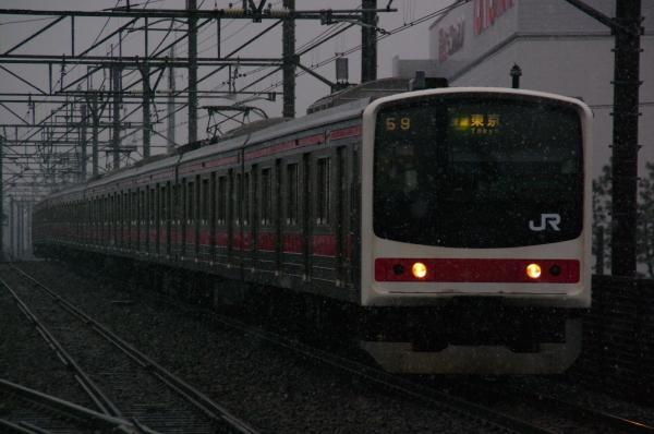 2011年2月11日 雪 京葉線 ケヨ9 新習志野4