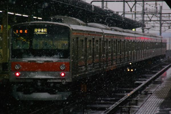 2011年2月11日 雪 京葉線 M31 新習志野4