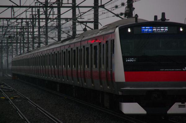 2011年2月11日 雪 京葉線 ケヨ506 新習志野1