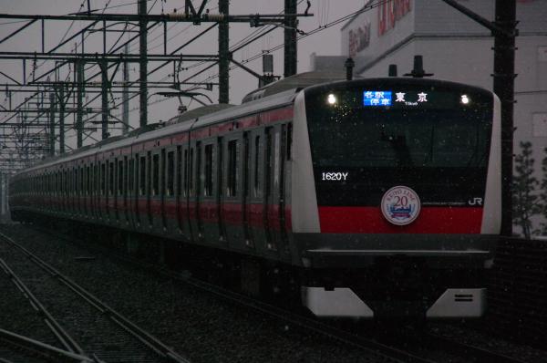 2011年2月11日 雪 京葉線 ケヨ502 新習志野4