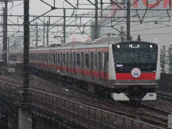 2011年2月11日 雪 京葉線 ケヨ501 新奈良市尾3