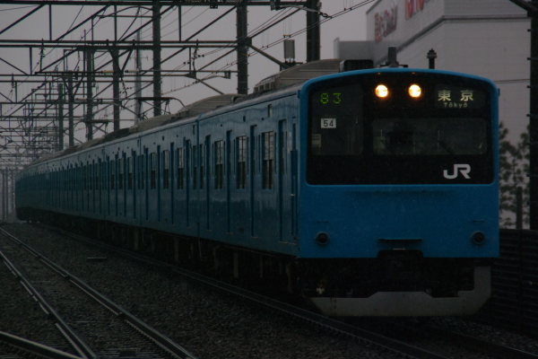 2011年2月11日 雪 京葉線 ケヨ54+K4 新習志野4