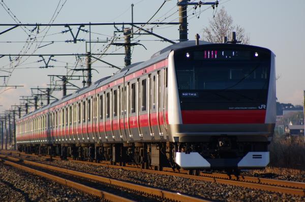 2011年3月10、11日 京葉線 外房線 地震 e233 永田