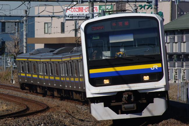 2012年2月19日 外房線 245M マリC607 蘇我-鎌取
