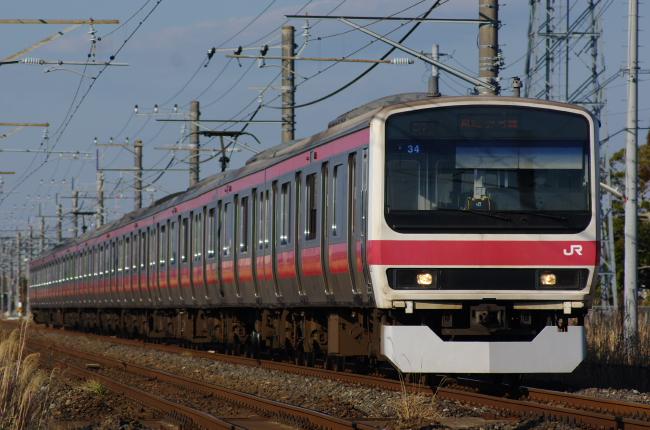2012年2月19日 外房線 4427A ケヨ34 永田-本納