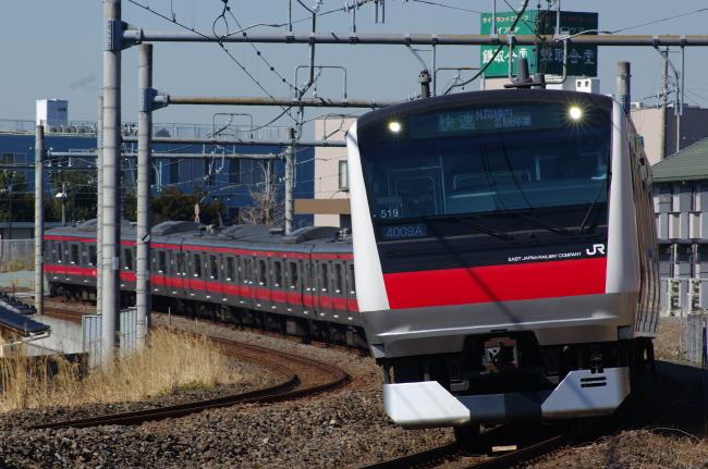 2012年2月19日 外房線 4009A ケヨ519 蘇我-鎌取