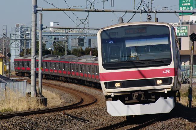 2012年2月19日 外房線 3827A ケヨ34 蘇我-鎌取