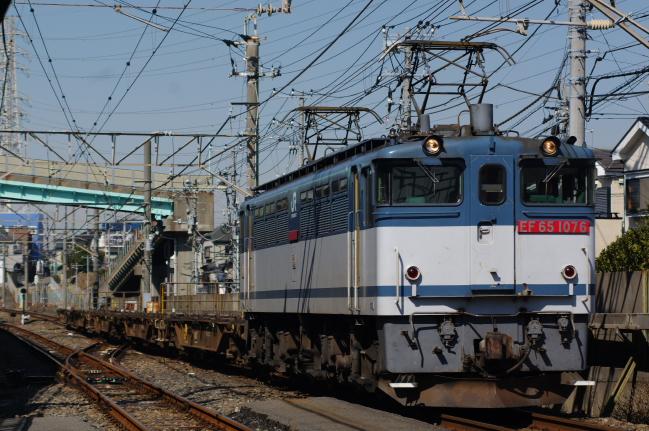 2012年2月21日 サイクリング  73列車 EF65-1076