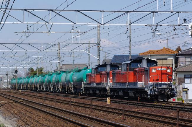 2012年3月14日 名古屋遠征 79レ DD51-1802+DD51-825+タキ 清州-稲沢