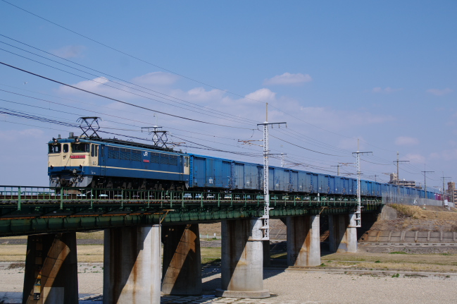 2012年3月15日 名古屋遠征 673レ EF65-1072+ワム+コキ 新守山-大曽根