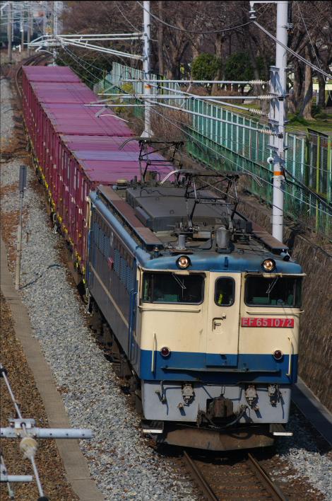 2012年3月15日 名古屋遠征 670レ EF65-1072+コキ