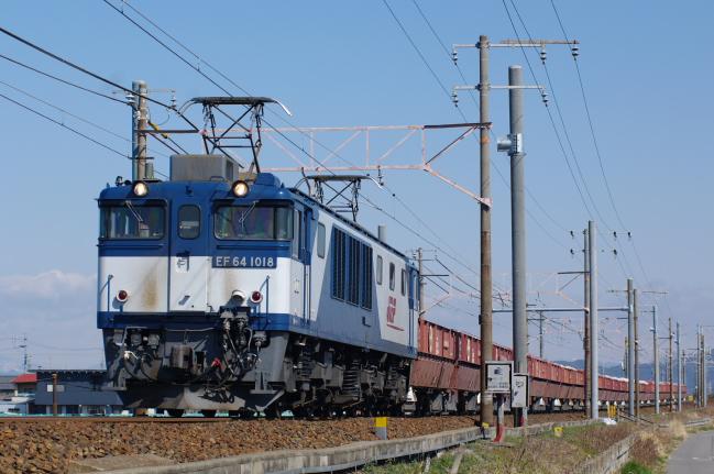 2012年3月15日 名古屋遠征 EF64-1018+ホキ