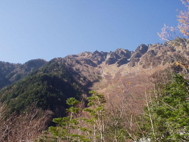 北アルプス-奥穂高岳(上高地~岳沢ヒュッテ~奥穂高岳)H16・11・6~7) 016