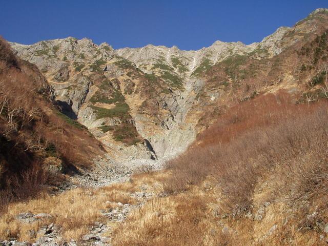 北アルプス-奥穂高岳(上高地~岳沢ヒュッテ~奥穂高岳)H16・11・6~7) 021