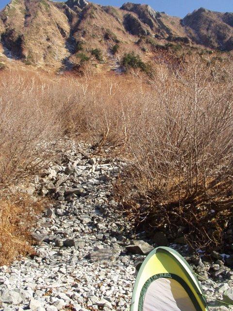 北アルプス-奥穂高岳(上高地~岳沢ヒュッテ~奥穂高岳)H16・11・6~7) 022