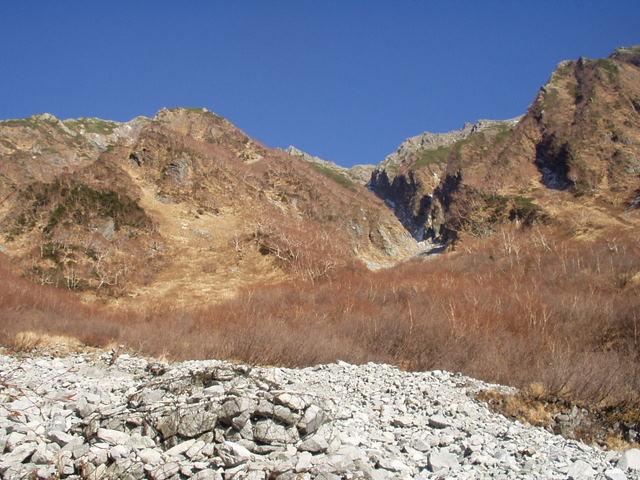 北アルプス-奥穂高岳(上高地~岳沢ヒュッテ~奥穂高岳)H16・11・6~7) 020