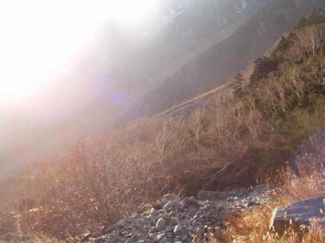 北アルプス-奥穂高岳(上高地~岳沢ヒュッテ~奥穂高岳)H16・11・6~7) 025